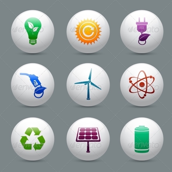 GraphicRiver Energy and Ecology Buttons Set 7281260