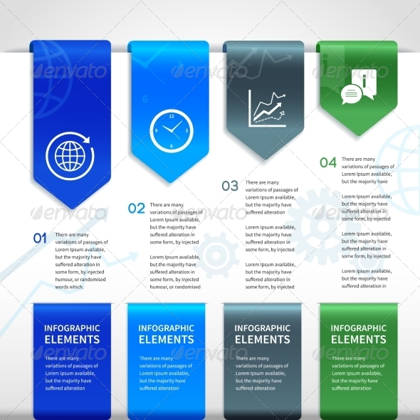 GraphicRiver Abstract Paper Business Infographics Elements 7281272