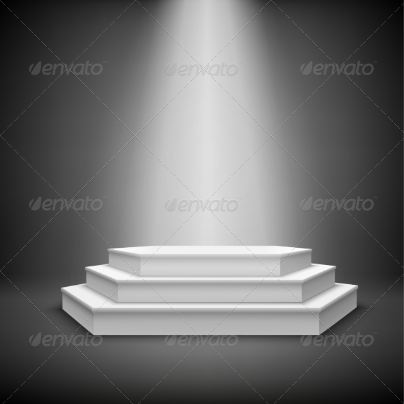 GraphicRiver Illuminated Stage Podium 7281273