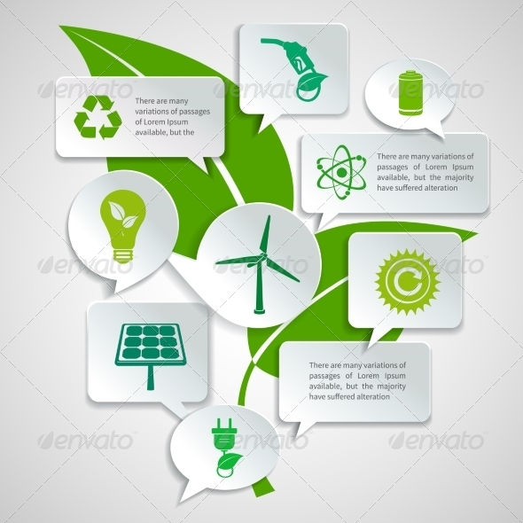 GraphicRiver Ecology and Energy Paper Bubbles Infographic 7281274