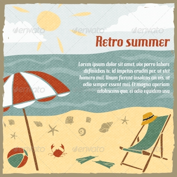 GraphicRiver Summer Vacation Background Retro 7281289