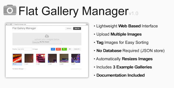CodeCanyon Flat Gallery Manager 7281294