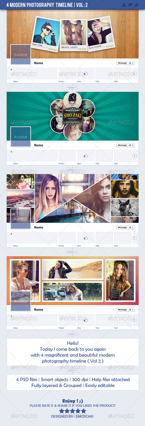 GraphicRiver 4 Modern Photography Timeline Vol 2 7281309