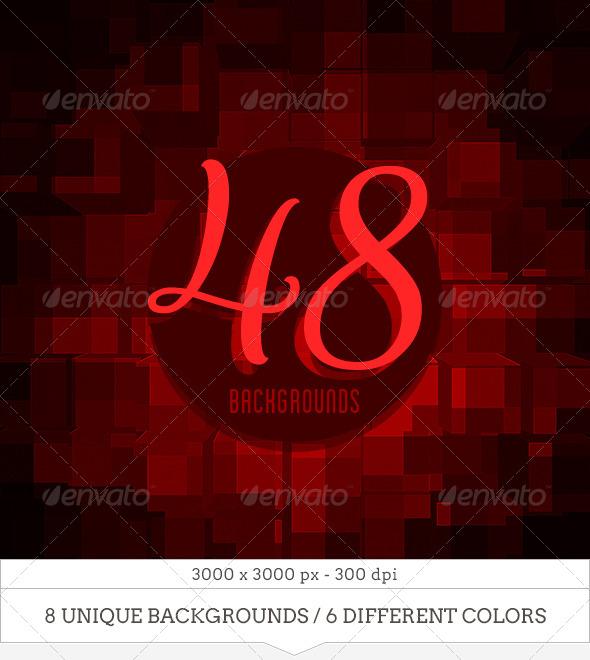 GraphicRiver 48 Blocks Explosion Backgrounds 7281418