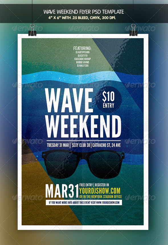 GraphicRiver Wave Weekend Flyer Template 7281508