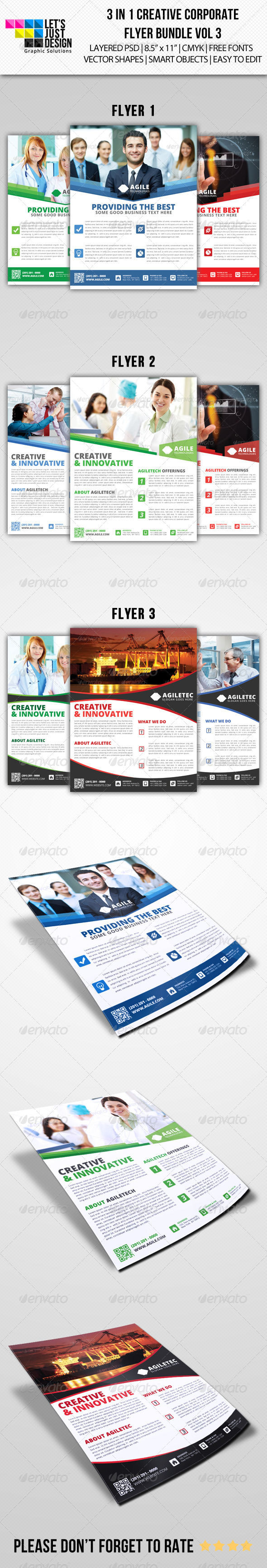 GraphicRiver Creative Corporate Flyer Pack Vol 3 7281553