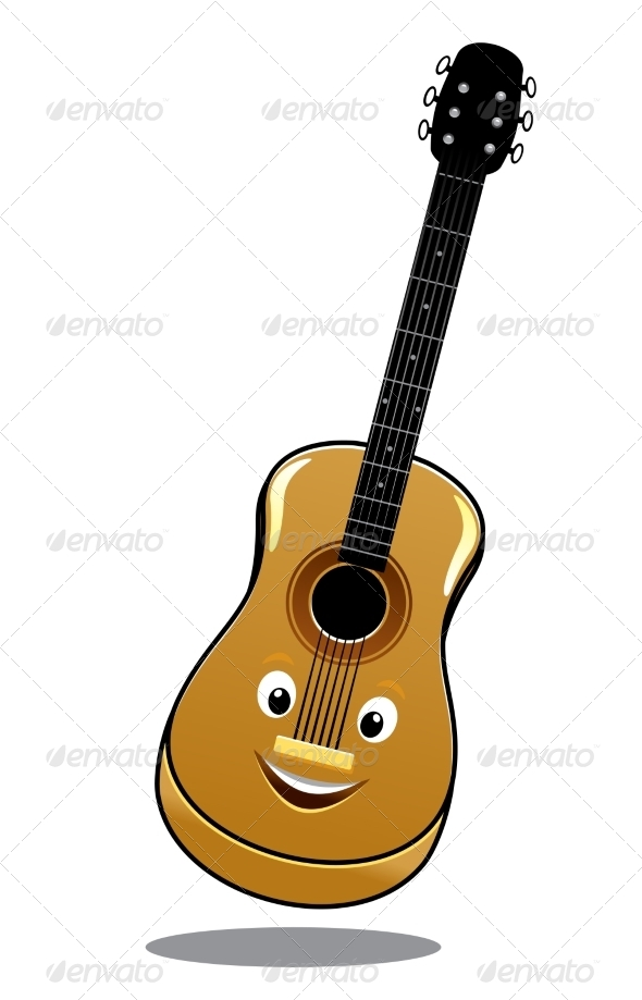 GraphicRiver Cartoon Wooden Country Guitar 7281564