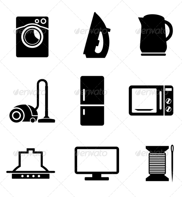 GraphicRiver Set of Home Appliances Icons 7281653