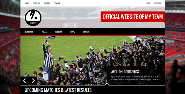 ThemeForest SPORTY Responsive HTML5 Template for Sport Clubs 7229221