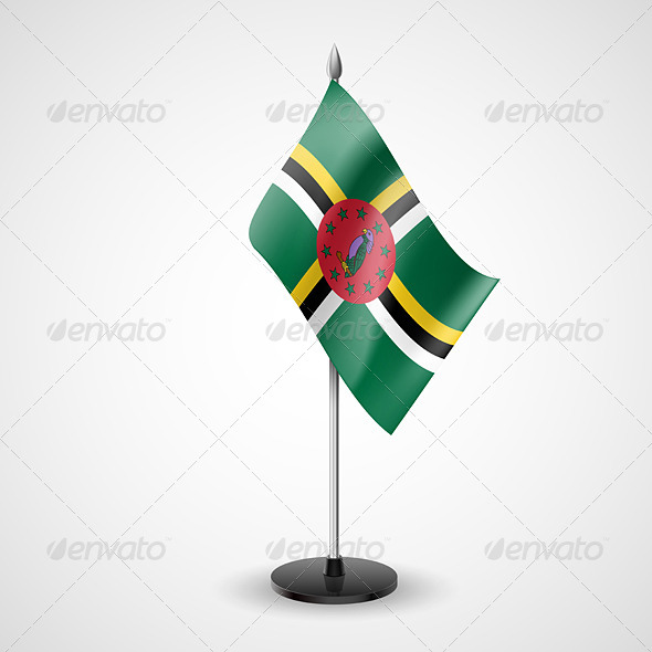 GraphicRiver Table Flag of Dominica 7282029