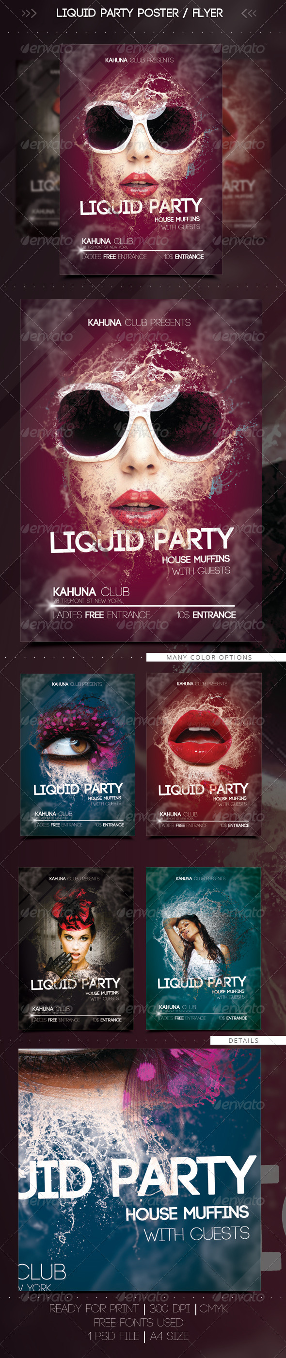 GraphicRiver Wet Liquid Party Flyer Poster 7282123