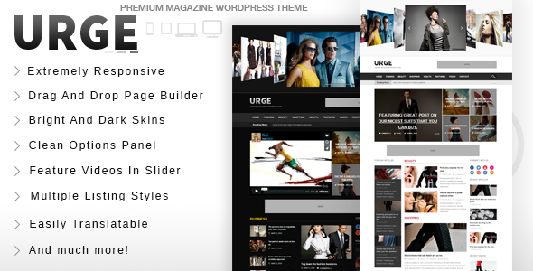 ThemeForest Urge Responsive Magazine News WordPress Theme 7233494