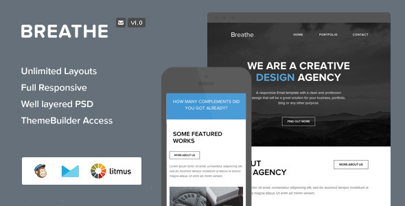 ThemeForest Breathe Responsive Email & Themebuilder Access 7231375