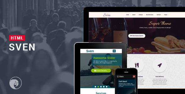 ThemeForest Sven Responsive Multipurpose HTML 7229174