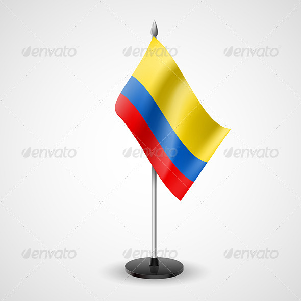 GraphicRiver Table Flag of Colombia 7283332