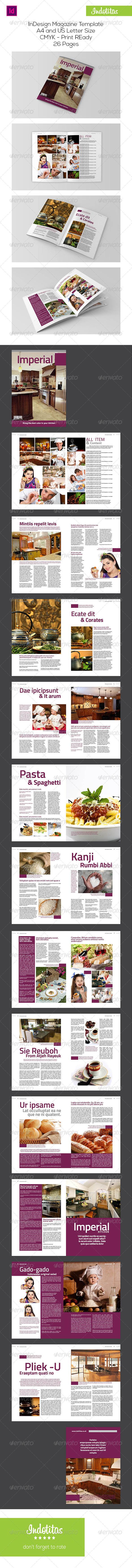 GraphicRiver Kitchen InDesign Magazine Template 7283396
