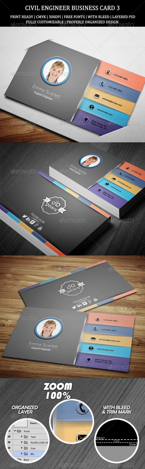 GraphicRiver Civil Engineer Business Card 3 7283635