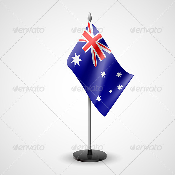 GraphicRiver Table Flag of Australia 7283636