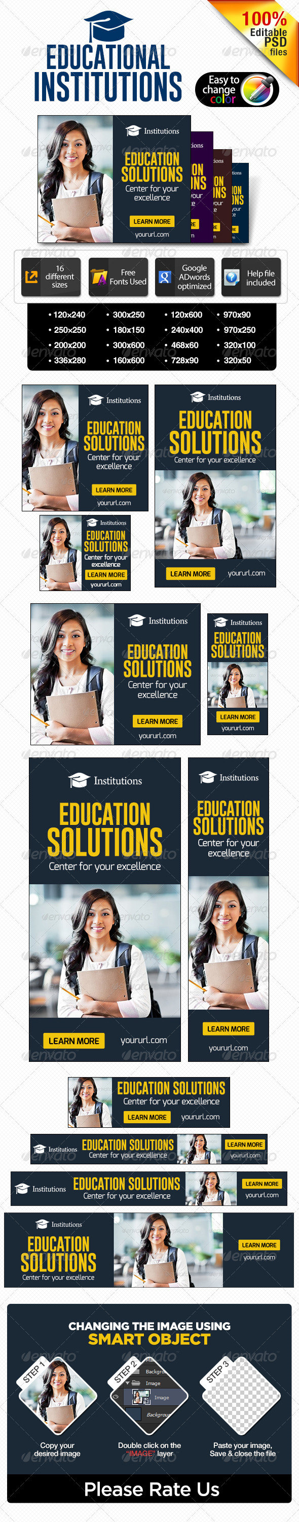 GraphicRiver Banners for educational institutions 7284313