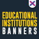 Banners for educational institutions - GraphicRiver Item for Sale