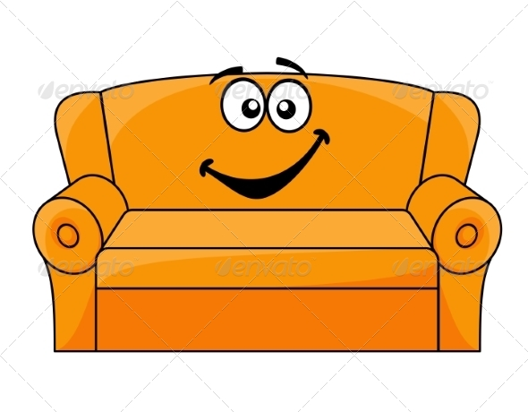GraphicRiver Cartoon Upholstered Couch 7284317