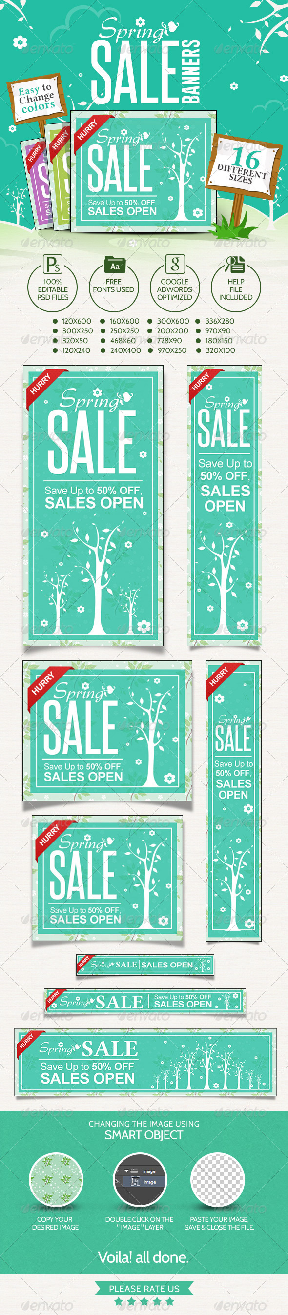 GraphicRiver Spring Sale Banners 7284320