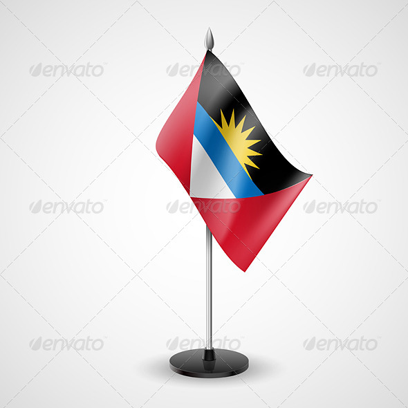 GraphicRiver Table Flag of Antigua and Barbuda 7284432