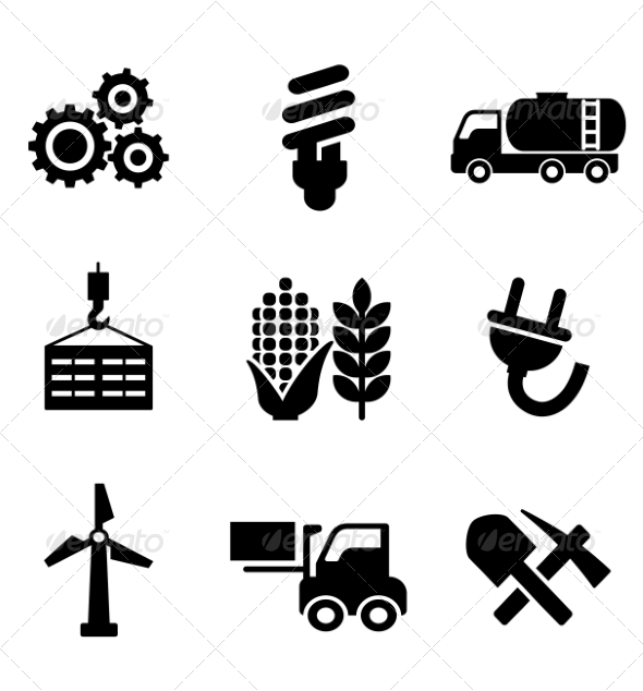 GraphicRiver Set of Energy and Industry Icons 7284860