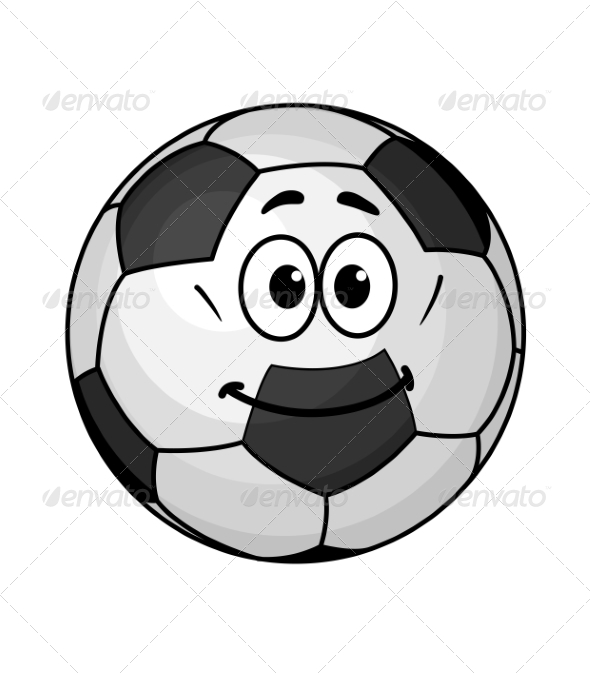 GraphicRiver Cartoon Soccer Ball 7284861