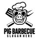 Pig Barbecue Logo Template - GraphicRiver Item for Sale