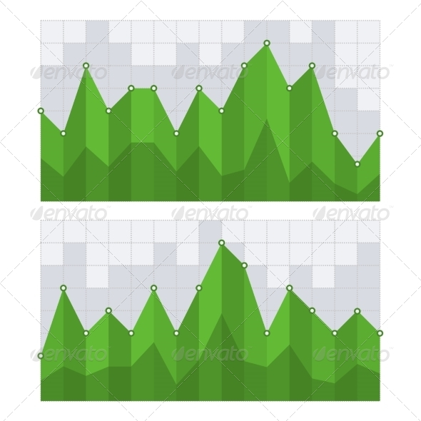 GraphicRiver Green Business Diagram Graph Chart Vector 7285157