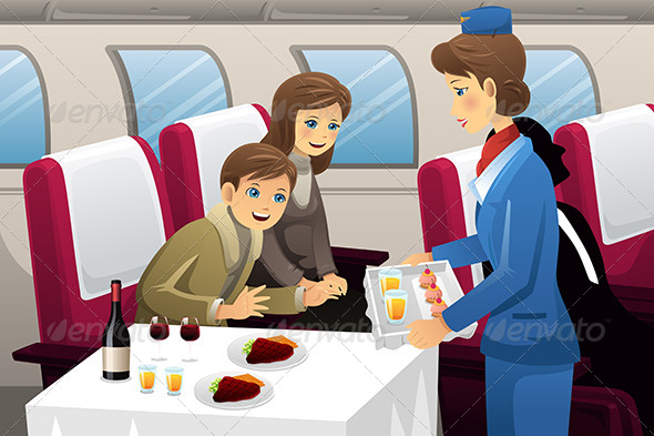 GraphicRiver Flight Attendant in an Airplane 7285208