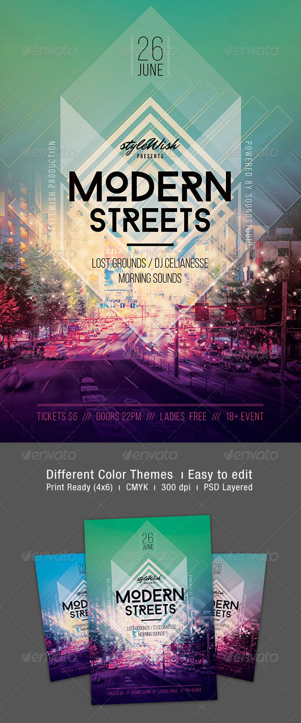 GraphicRiver Modern Streets Flyer 7285300