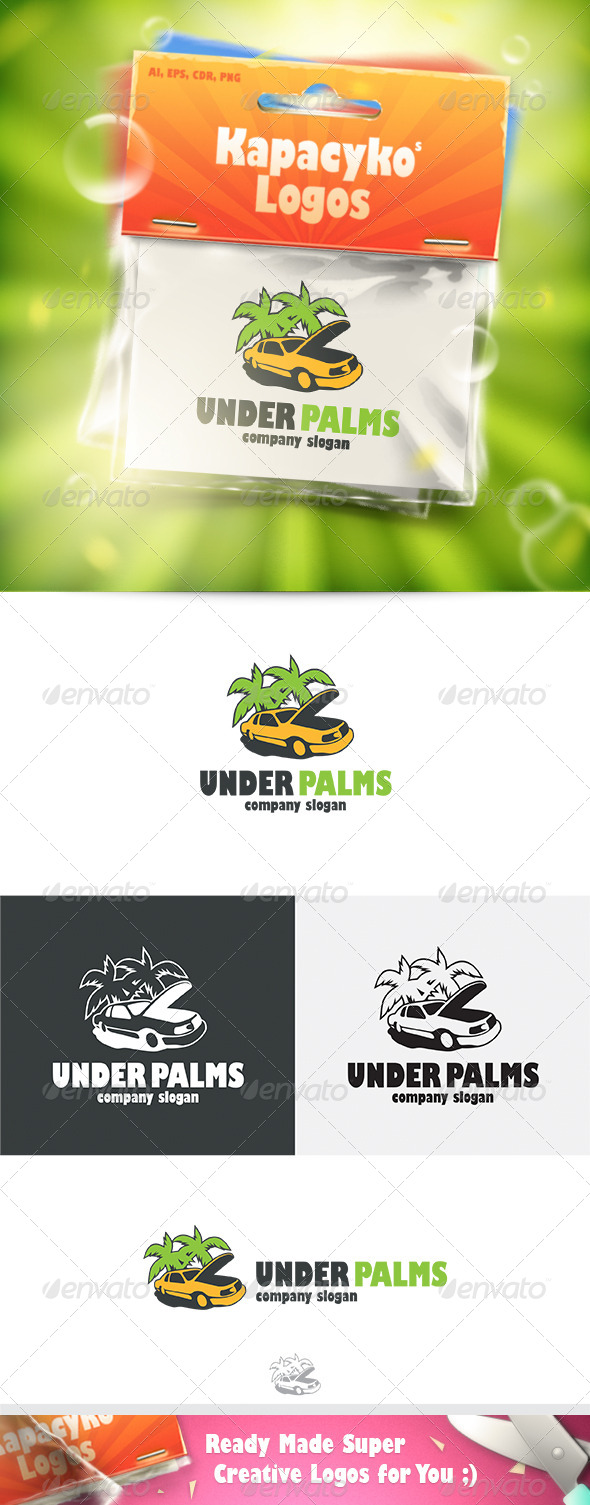GraphicRiver Under Palms Logo 7285310