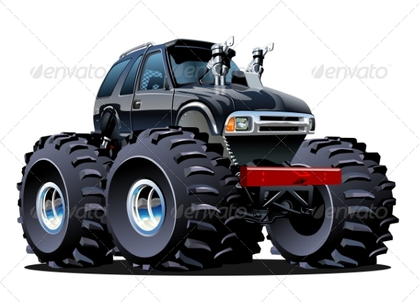 GraphicRiver Cartoon Monster Truck 7285366