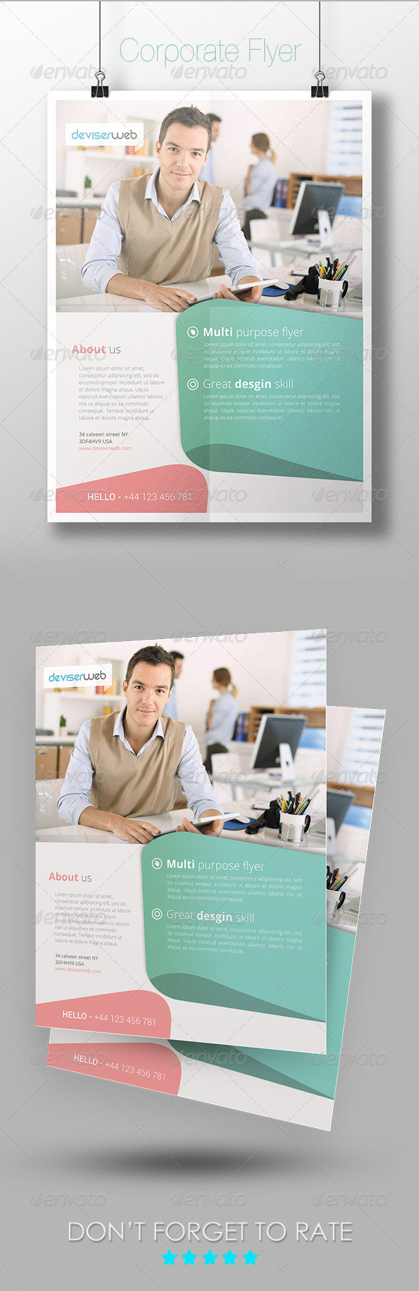 GraphicRiver Corporate Flyer Template 7285367