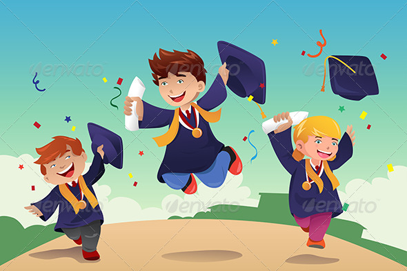 GraphicRiver Students Celebrating Graduation 7285491