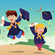 Students Celebrating Graduation - GraphicRiver Item for Sale