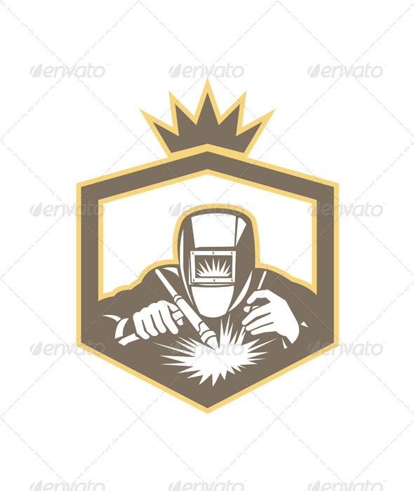 GraphicRiver Welder Fabricator Welding Torch Shield Retro 7285571