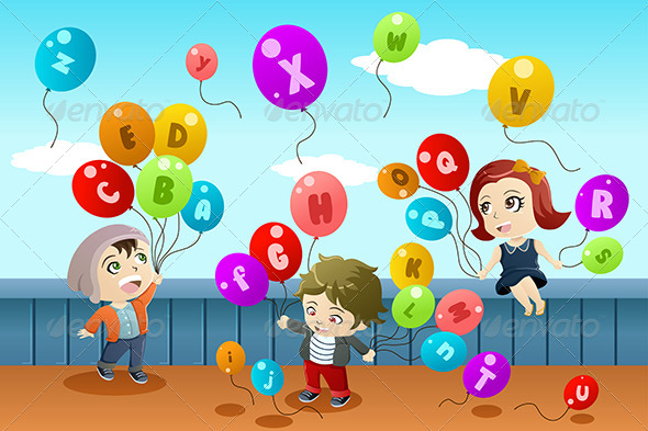 GraphicRiver Kids Learning the Alphabet 7285579