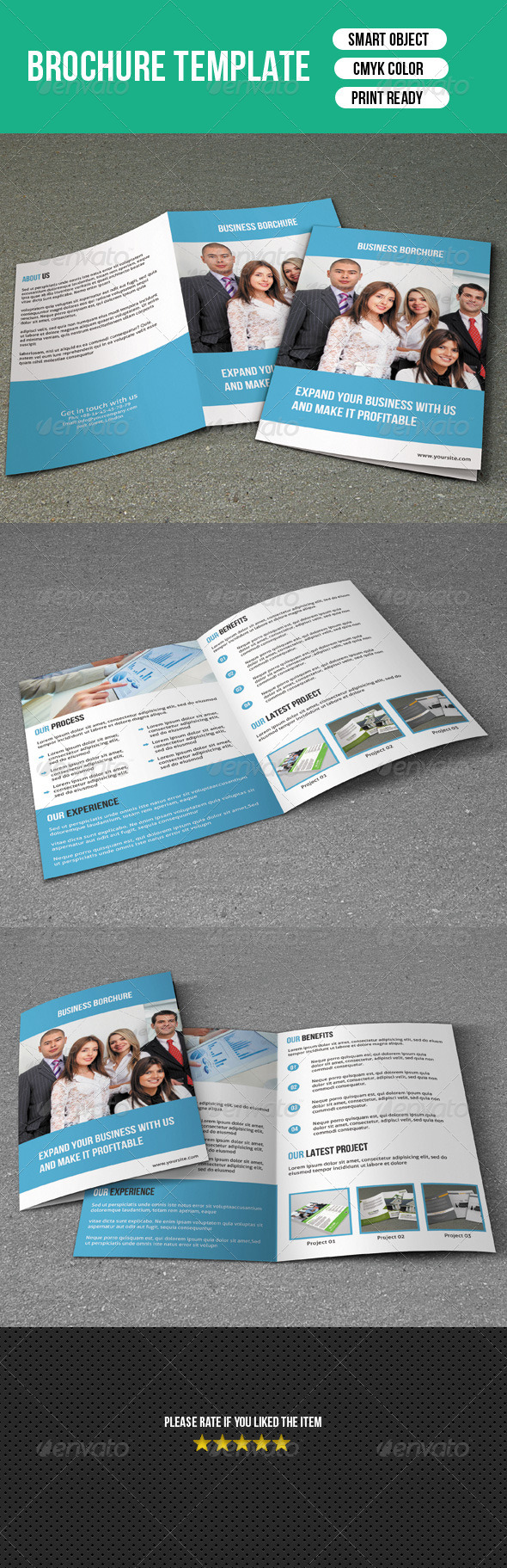 GraphicRiver Bifold Brochure Business 7285585