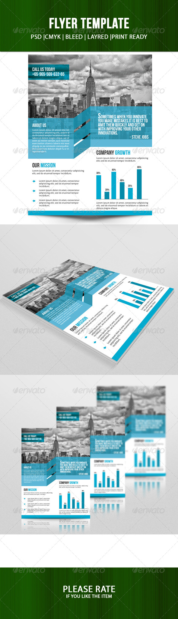 GraphicRiver Corporate Flyer Template 7285609