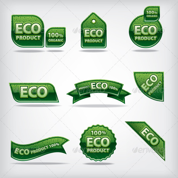 GraphicRiver Eco Labels 7285623