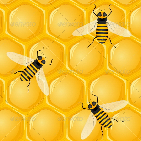 GraphicRiver Bees and Honeycombs 7285709