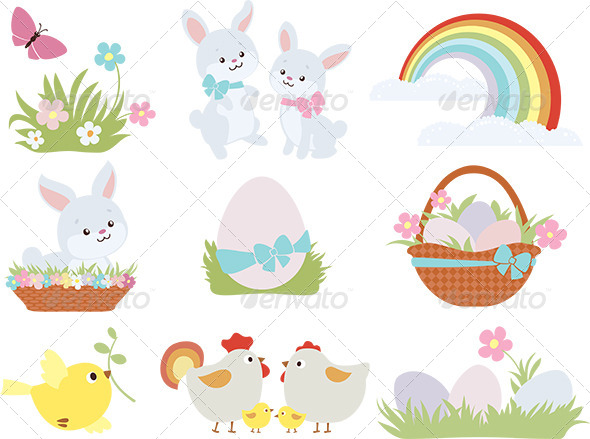 GraphicRiver Easter Symbols 7285732