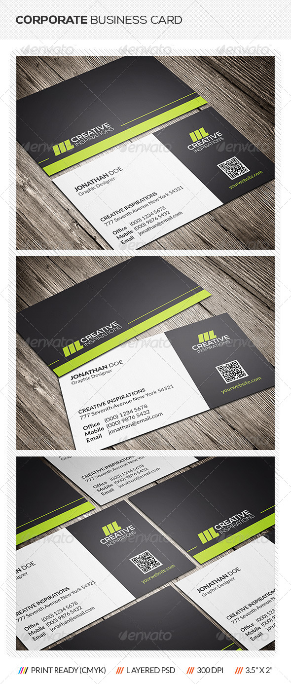 GraphicRiver Corporate Business Card 7285739