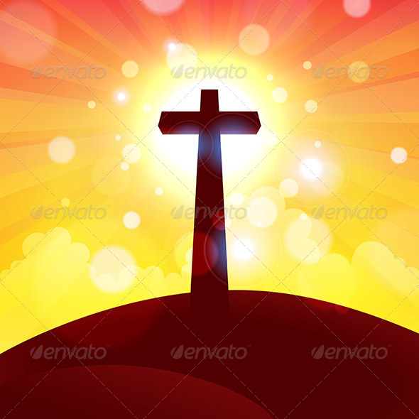 GraphicRiver Glorious Cross at Sunset 7285770