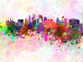 Kansas City skyline in watercolor background - PhotoDune Item for Sale