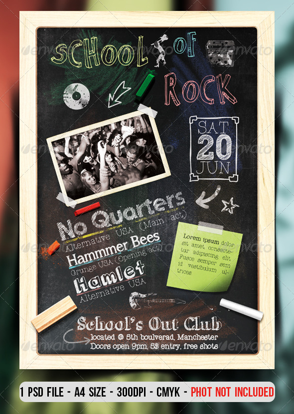 GraphicRiver School Of Rock Flyer Poster 7263864