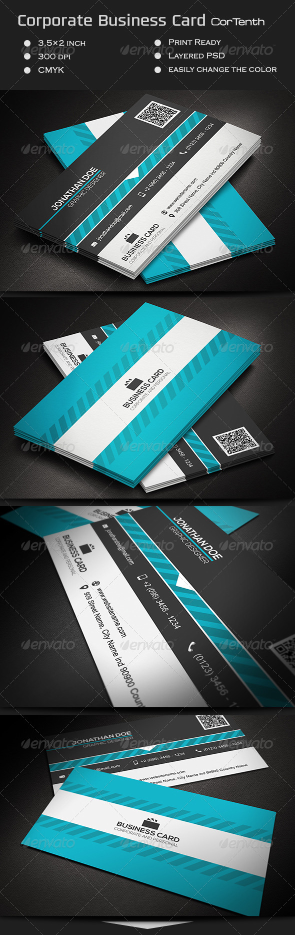 GraphicRiver Corporate Business Card CorTenth 7286096